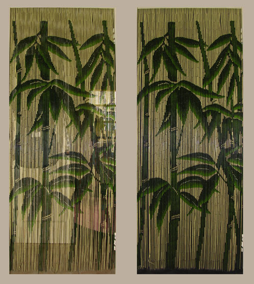Bamboo Closet Door Curtains Fabric Curtains for Doors