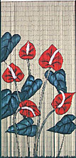 bamboo curtain with anthurium