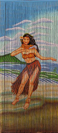 Woody Stationwageon On Beach Bamboo Curtain