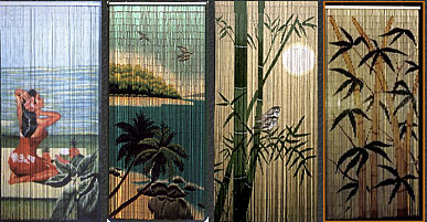 Hawaii Designed Bamboo Curtains!
